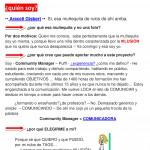 """Carta de Presentación de Araceli Gisbert """"Community Manager Alicante y Murcia"""""""