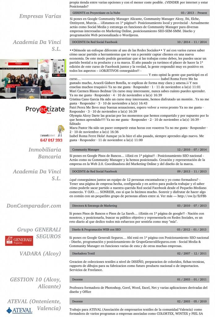 Araceli Gisbert Botella Resume | Resume Builder