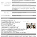 Curriculum Vitae hoja 3 de Araceli Gisbert
