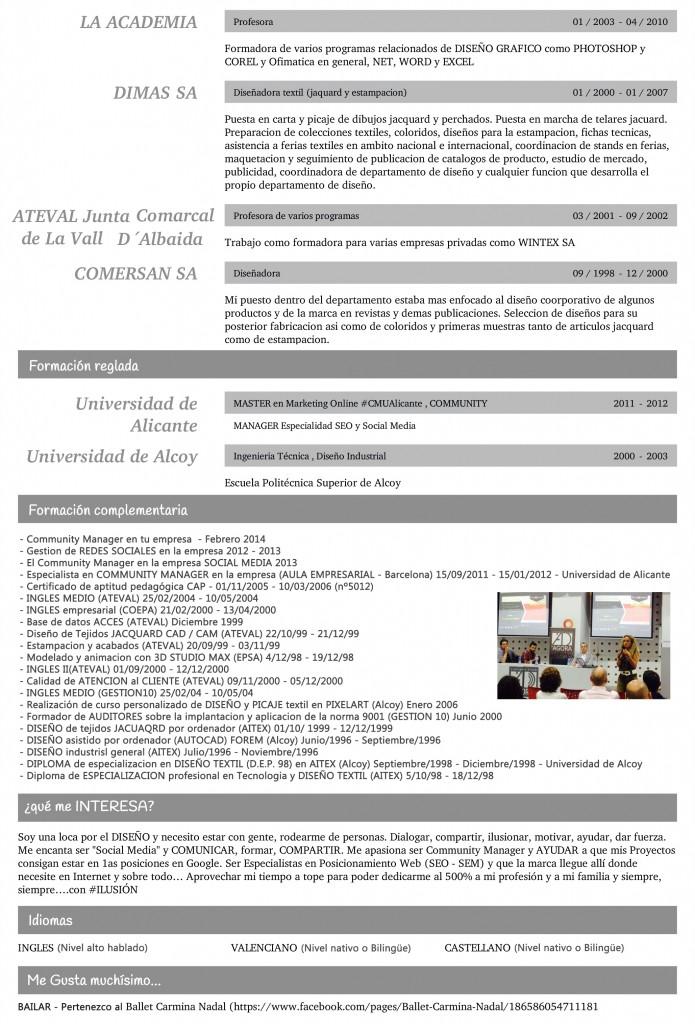 Curriculum Vitae de Araceli Gisbert Botella 3