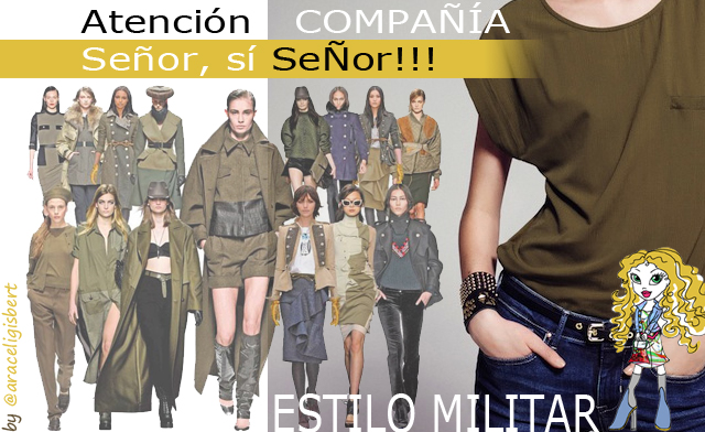 Estilo militar social media Marketing online diseño moda tendencias otoño invierno 2012 2013 araceli gisbert posicionamineto web alcoy alicante