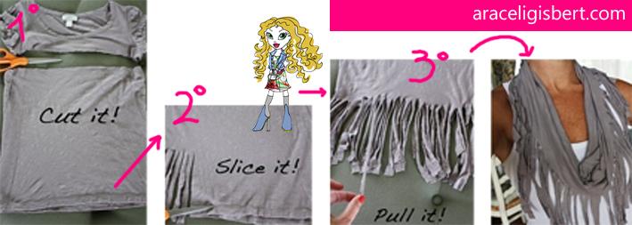 Hazte un fourlard con tu vieja camiseta tendencias diseño moda 2013