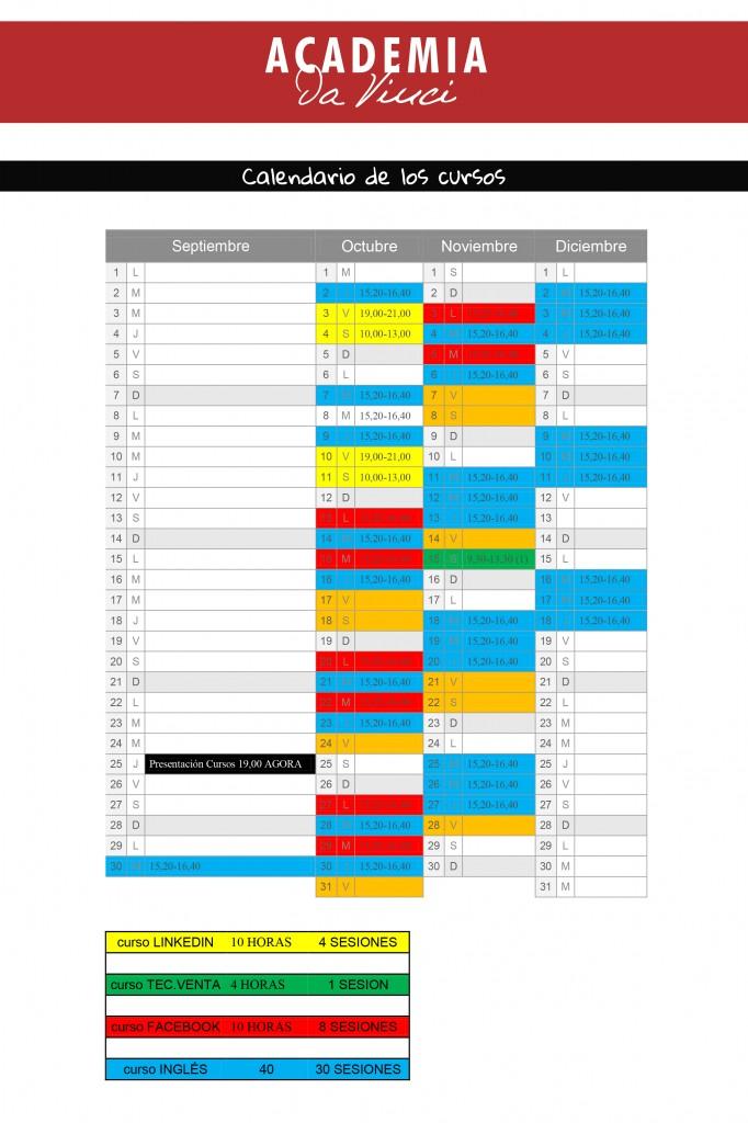Calendario cursos formación en Alcoy de Facebook y de community manager