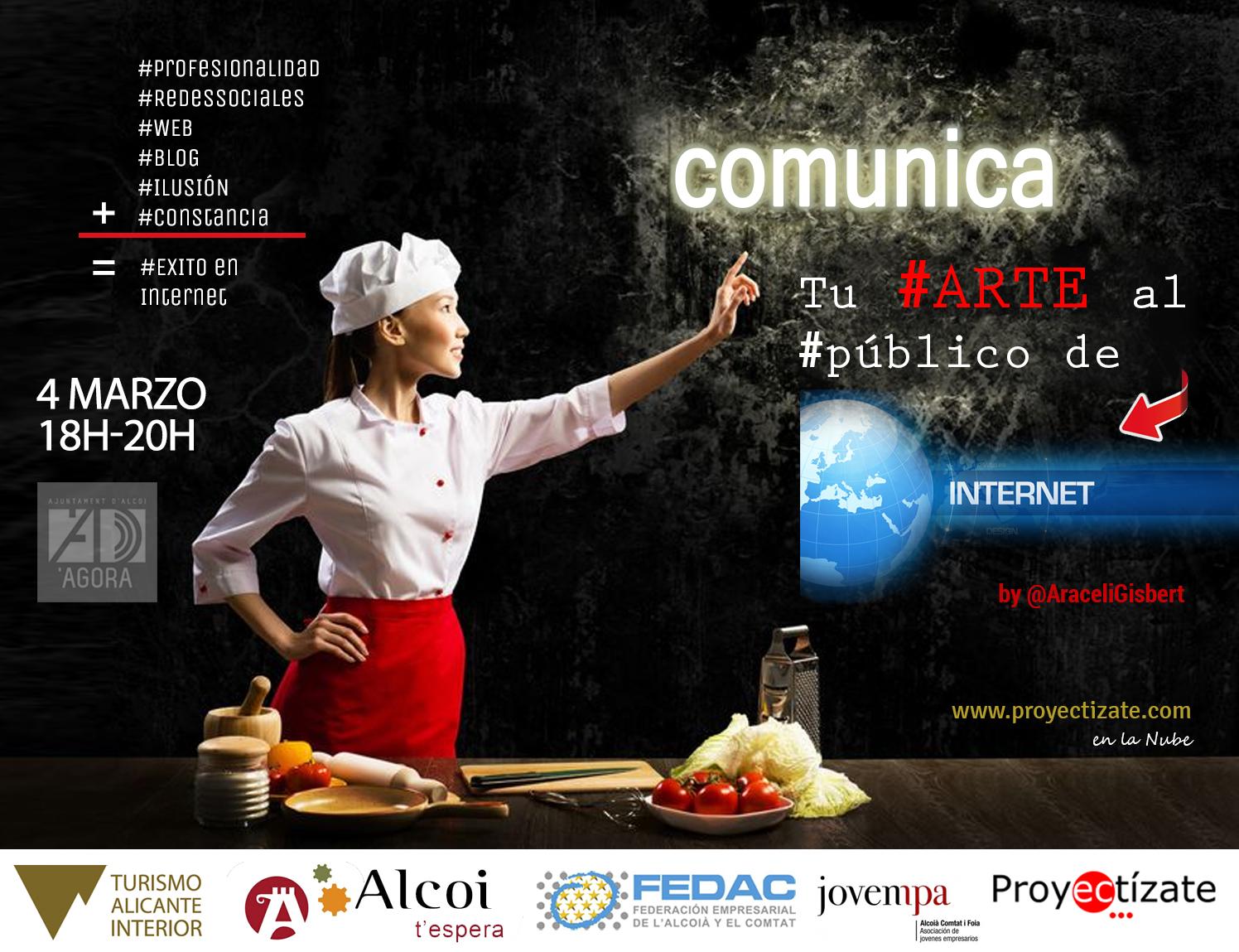 Comunicarte en Agora Alcoy Alcoi Comunicacion de tu arte con Araceli Gisbert