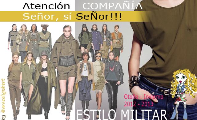 Estilo militar social media Marketing online diseño moda tendencias otoño invierno 2012 2013 araceli gisbert posicionamineto web alcoy alicante